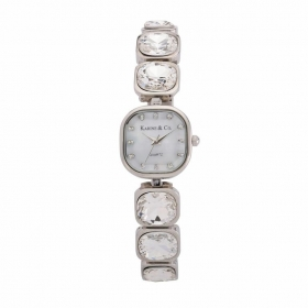 Silvertone Crystal Bracelet Watch (5004237)