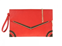 Red and Gold Effect Evening Clutch Bag 1011