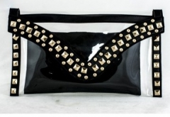 Black Sheer PVC Clutch Bag 89491